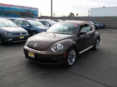 Certified Pre-Owned 2015 Volkswagen Beetle Convertible 1.8T w/Sound/Nav Front Wheel Drive Convertible